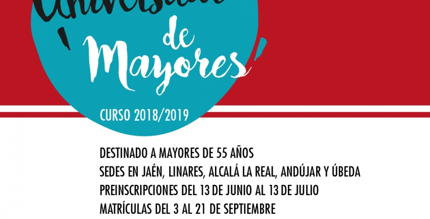 Cartel Programa Universitario de Mayores