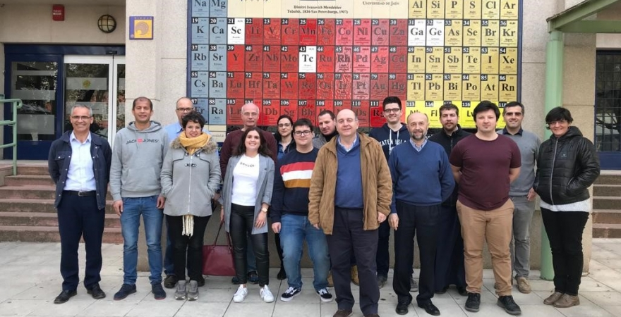 "Miembros del proyecto europeo TImPANI (""Twinning in atmospheric Plasma science and applications""), en la Universidad de Jaén"